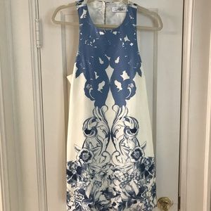 Tibi Blue/White mini cocktail dress